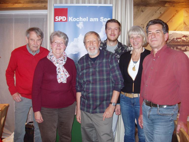 Vorstand SPD-OV Kochel, 5.11.2019